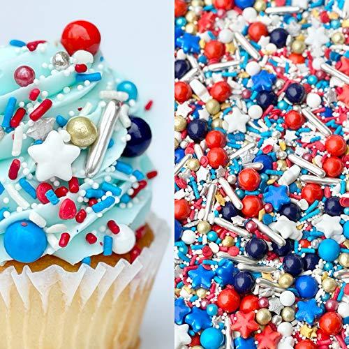 Sprinkles | Blue Sprinkle | 4 Ounces | Jimmies | Sprinkle | Manvscakes