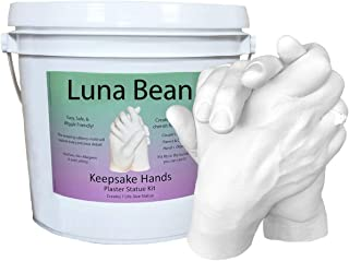 Luna Bean Keepsake Hands Casting Kit – Large | DIY Plaster Statue Molding Kit |..