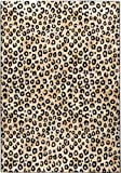 Well Woven Dulcet Leopard Black Ivory Animal Print Area Rug 5' X 7'2''