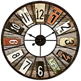 emotion 34551 Horloge 60 cm, Métal, Multicolore, 60x60x3 cm