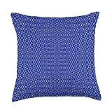 Kristalin Davis Pattern 42 Throw Pillow, 18x18, Multicolor