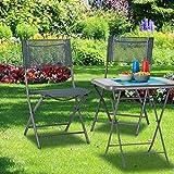 Relaxdays Gartenstuhl klappbar 2er Set - 4
