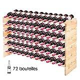 GOPLUS Casier à Bouteilles pour 72 Bouteilles, Range Bouteille Vin avec 6...