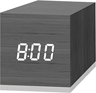 Digital Alarm Clock, with Wooden Electronic LED Time Display, 3 Dual Plus Alarm, 2.5-inch..