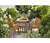 Dehner Gartenbank Havanna, 3-Sitzer, ca. 160 x 67 x 89 cm, FSC Teakholz, natur - 3