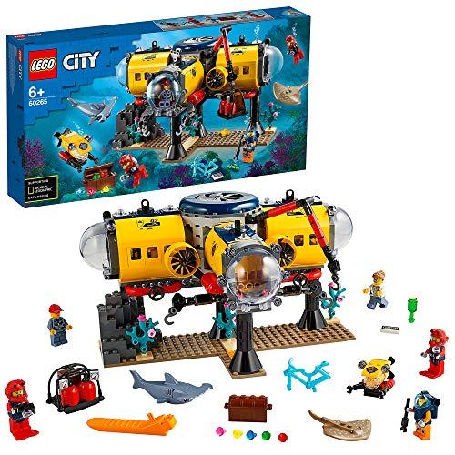 LEGOCityOceansBaseperEsplorazioniOceanicheconSottomarino,Drone,unoSqualoeunaManta,AvventureAcquaticheperBambini,60265