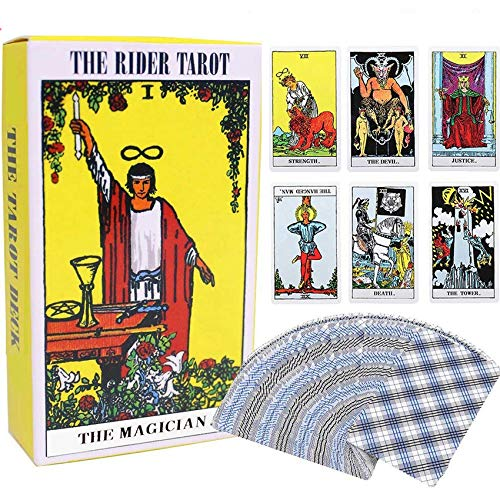 Tarot Cards Original Waite Tarot Deck Classic Tarot Cards Deck Travel Tarot Card Power Deck with Guide Booklet 78 Tarot Cards for Beginners