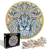 O-Kinee Puzzle Rond Créatif- Lion, 1000 Pièces Puzzle Rond, Intellectual Game Puzzle, Puzzle Adulte, Puzzles Classiques, Bricolage Puzzle Décoration pour Enfants Cadeau (Lion)