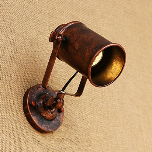 Nailyn Vintage Industrial swing braccio Applique luce regolabile retro lampada da parete in ferro...