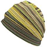 Charm Men Summer Beanie Knit - Women Hipster Slouchy Hat Boho Street Fashion Cap Yellow