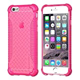 iPhone 6s Case, LUVVITT [Clear Grip] Soft Slim Flexible TPU Back Cover Transparent Rubber Case for Apple iPhone 6 / iPhone 6s (4.7 inch) - Neon Pink