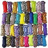 UOOOM 20pcs Multicolore Multifonction Paracordes pour Parachute Bracelet Cordes DIY (Multicolore...