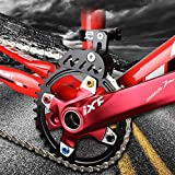 Bike Chain Guide MTB Bike Protector Road Bicycle Mountain Cycle Chain Guide Tensioner with Hollowed Design for Single Disc Sprocket, Front Dial Smooth Driving(Black) (Sports)