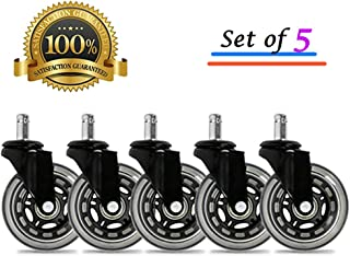 BF BRIGHTFIELD Universal Office Chair Caster Wheels Set of 5 Heavy Duty & Safe for..