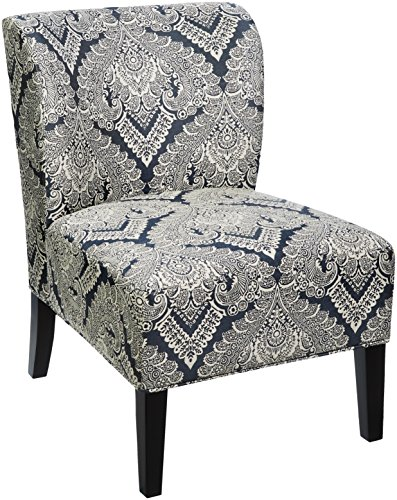 Signature Design by Ashley - Honnally Accent Chair - Contemporary Style - Sapphire Medallion Pattern