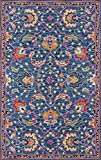 Momeni Ibiza Wool Area Rug, 5' X 8', Blue