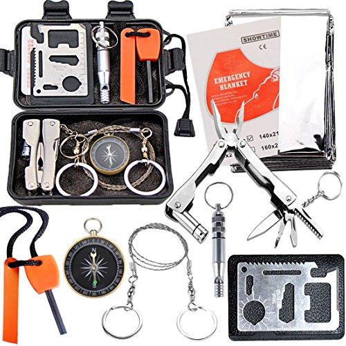 EMDMAK Survival Kit Outdoor Emergency Gear Kit for Camping Hiking...