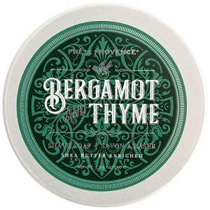 Pre de Provence Men's Shave Soap Enriched with Natural & Repairing Shea Butter (150g) - Bergamot &...