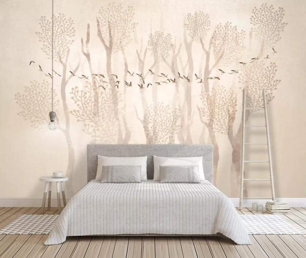 3d Wallpaper Wall Mural Forest Birds Are Simple And Fresh Bedroom And Living Room 3d Wallpapers For Wall Decoration Amazon Co Uk Diy Tools