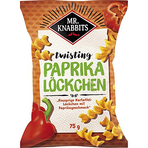 Mr.Knabbits Paprika Löckchen, 14er Pack, 14 x 75 g