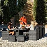 TecTake Aluminium Poly Rattan Sitzgruppe klappbar für bis zu 10 Personen - 3