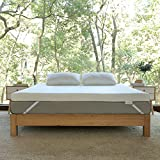 Novilla Mattress Topper Queen, 3 Inch Dual LayerMemory Foam Mattress Topper Enhance Cooling,Supportive & Pressure Relieving,with Washable Bamboo Cover,Queen Size
