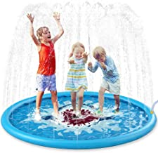 "Jasonwell Sprinkle & Splash Play Mat 68"" Sprinkler for Kids Outdoor Water Toys.."