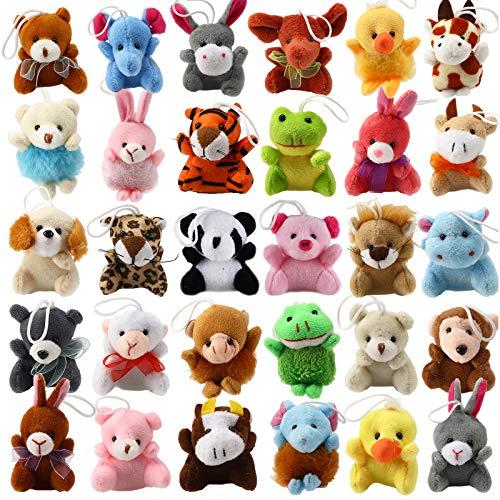 32 Piece Mini Plush Animal Toy Set, Cute Small Animals Plush...