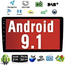 Android 9.1 10.1 Inch Touch Screen 2Din Car Multimedia Radio GPS Navigation in-Dash Car..