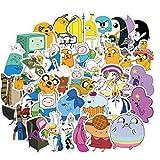 linjunddd 50pcs Animado Tiempo De Aventura Pegatinas Pack para Niños En La Computadora Portátil Frigorífico Teléfono Maleta del Recorrido del Monopatín Etiqueta