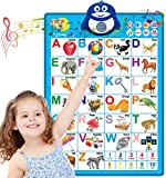 Dolanus Electronic Interactive Alphabet Wall Chart, ABC & 123s Music Talking Poster Educational Toys, Best Educational Toy for 2 Year olds and 3 Year olds. Electronic Toddler Toys for Boys & Girls.