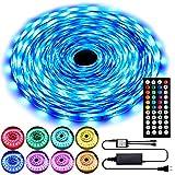 50ft LED Strip Lights, RGB LED Lights Strip Kit with 44 Key IR Remote, SMD 5050 Color Changing Strip...