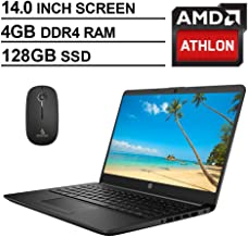2020 Newest HP 14 Inch Premium Laptop, AMD Athlon Silver 3050U up to 3.2 GHz, 4GB DDR4..