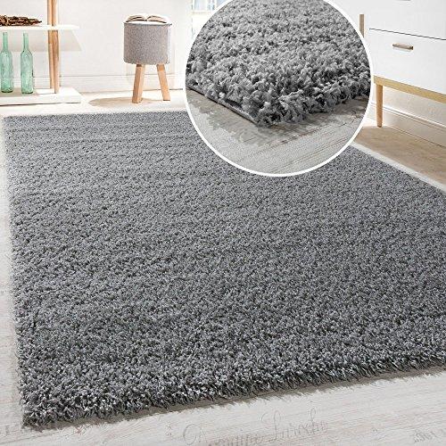 Shaggy - Tappeto A Pelo Lungo in Diversi Colori E Misure, Dimensione:190x280 cm, Colore:Grigio