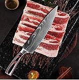 YUSHU - Couteau de Cuisine, Couteau Damas, Couteau de Chef...