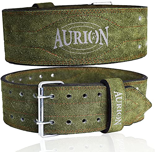 Aurion Genuine Leather Pro Weight Lifting Belt For Men And Women Durable Comfortable & Adjustable...
