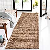 Safavieh Natural Fiber Collection NF447A Hand-woven Chunky Textured Jute Runner, 2' 6' x 6'
