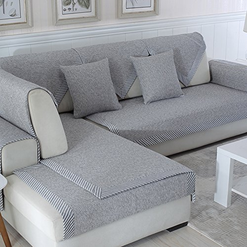 Ritaba Baumwolle Für Haustiere Couch Sofa Überwürfe, Anti-rutsch Übergroßen Spitze Couch Sofa Überwürfe Couch-Shield Sofaschoner Verkauft in stück-E 90x160cm(35x63inch)