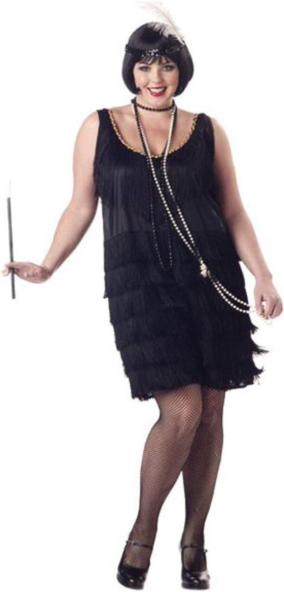 Amazon.com: California Costumes Women's Fashion Flapper Plus Size ...