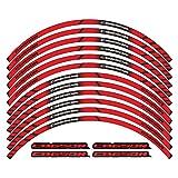 BLOUR para Honda cb650r Nuevas calcomanías de decoración de Cubo de Rueda de Motocicleta Rayas de llanta Pegatinas Reflectantes con Logotipo