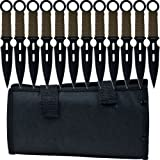 Whetstone Cutlery 12 Piece Set of S-Force Kunai Knives with Carrying Case,...