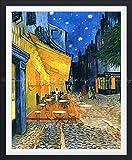絵画風 壁紙ポスター (はがせるシール式) フィンセント ファン ゴッホ 夜のカフェテラス 1888年 クレラー・ミュラー美術館 【額縁印刷/トリックアート】 キャラクロ K-GOH-007SGF2 (489mm×594mm) 建築用壁紙+耐候性塗料