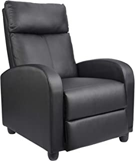 Homall Recliner Chair Padded Seat Massage PU Leather for Living Room Single Sofa Recliner..