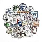 HHSM Viaje estilo graffiti etiqueta de sello sello de etiqueta de papel maleta equipaje guitarra coche etiqueta etiqueta etiqueta 100pcs