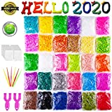 VENSEEN Rainbow Rubber Bands Bracelet Making Kit, 15000 Loom Bands in 30 Colors with 600 Clips, 6 Hooks, 2 Y Loom