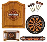 Harley-Davidson 61995 Bar and Shield Dartboard Cabinet...