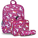 LONECONE Kids' 3-Piece Back to School Kit - Backpack, Lunchbox & Pencil Case, Mary the Unicorn