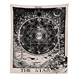 INTHouse Tarot Star Tapestry Wall Tapestry Wall Hanging Psychedelic Tapestry Celestial Tapestry Medieval Tarot Decor Wall Tapestry for Bedroom Living Room College Dorm Room (The Star, 51x59)
