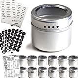 12 Magnetic Spice Tins & 2 Types of...