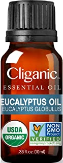 Cliganic USDA Organic Eucalyptus Essential Oil, 100% Pure | Natural Aromatherapy Oil for..
